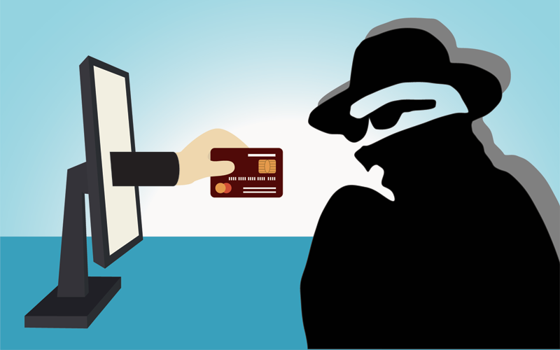 Credit Card and Hacker Image